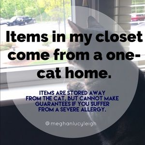 Other - Cat-friendly Poshmark Closet